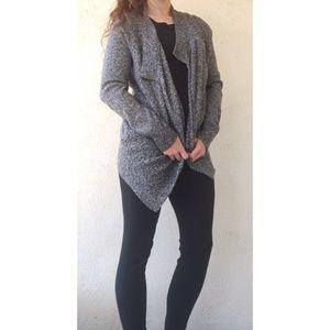 Lou & Grey Black and White Wool Blend Cardigan